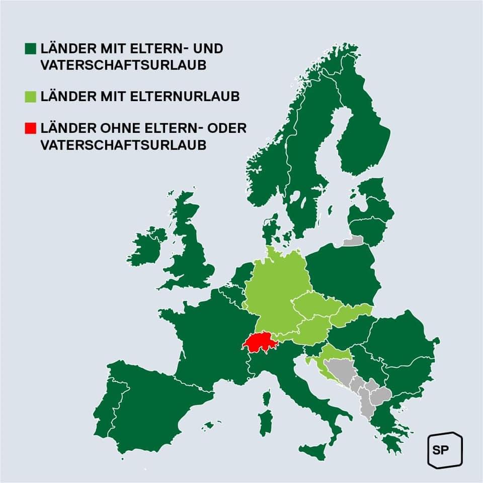 Vergleich Europa Vaterschaftsurlaub